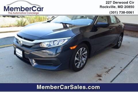 2017 Honda Civic for sale at MemberCar in Rockville MD