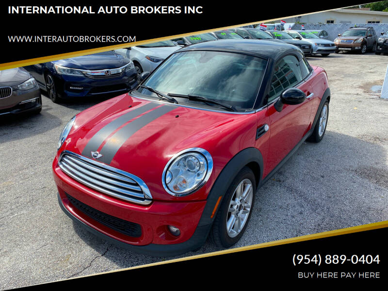 2012 MINI Cooper Coupe for sale at INTERNATIONAL AUTO BROKERS INC in Hollywood FL