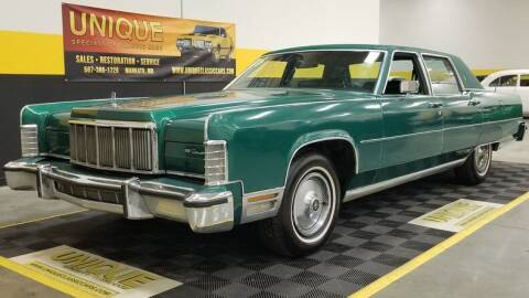 1976 Lincoln Continental for sale at UNIQUE SPECIALTY & CLASSICS in Mankato MN