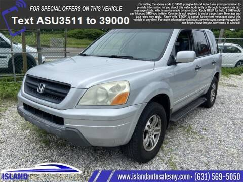 2004 Honda Pilot for sale at Island Auto Sales in East Patchogue NY