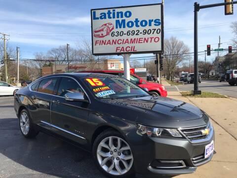 2015 Chevrolet Impala for sale at Latino Motors in Aurora IL