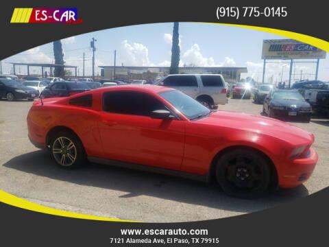 2012 Ford Mustang for sale at Escar Auto in El Paso TX