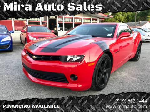 2014 Chevrolet Camaro for sale at Mira Auto Sales in Raleigh NC