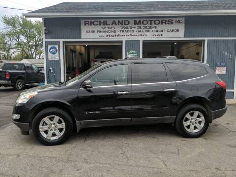 2009 Chevrolet Traverse for sale at Richland Motors in Cleveland OH