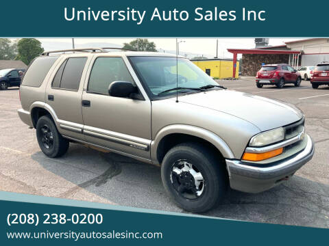 2001 Chevrolet Blazer for sale at University Auto Sales Inc in Pocatello ID
