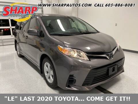 2020 Toyota Sienna for sale at Sharp Automotive in Watertown SD