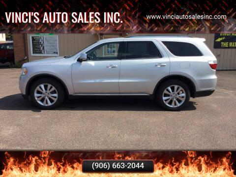 2012 Dodge Durango for sale at Vinci's Auto Sales Inc. in Bessemer MI
