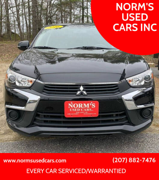 2016 Mitsubishi Outlander Sport for sale at NORM'S USED CARS INC in Wiscasset ME