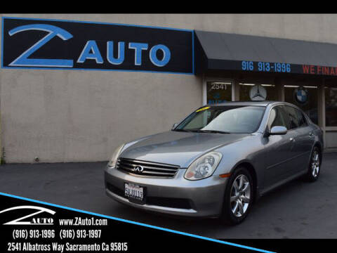 2006 Infiniti G35 for sale at Z Auto in Sacramento CA