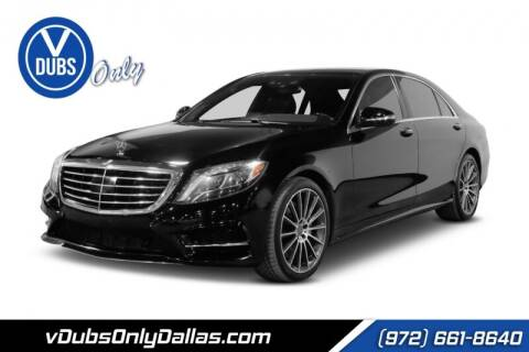 2014 Mercedes-Benz S-Class for sale at VDUBS ONLY in Dallas TX
