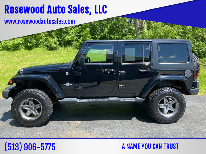 2013 Jeep Wrangler Unlimited for sale at Rosewood Auto Sales, LLC in Hamilton OH