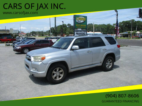 2010 Toyota 4Runner for sale at CARS OF JAX INC. in Jacksonville FL