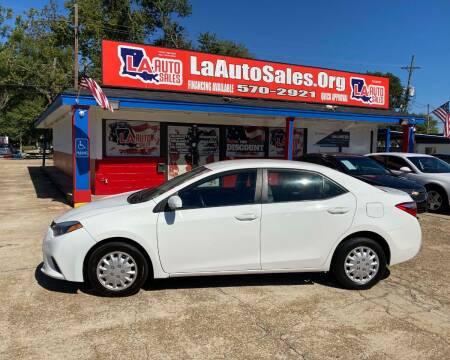 2016 Toyota Corolla for sale at LA Auto Sales in Monroe LA
