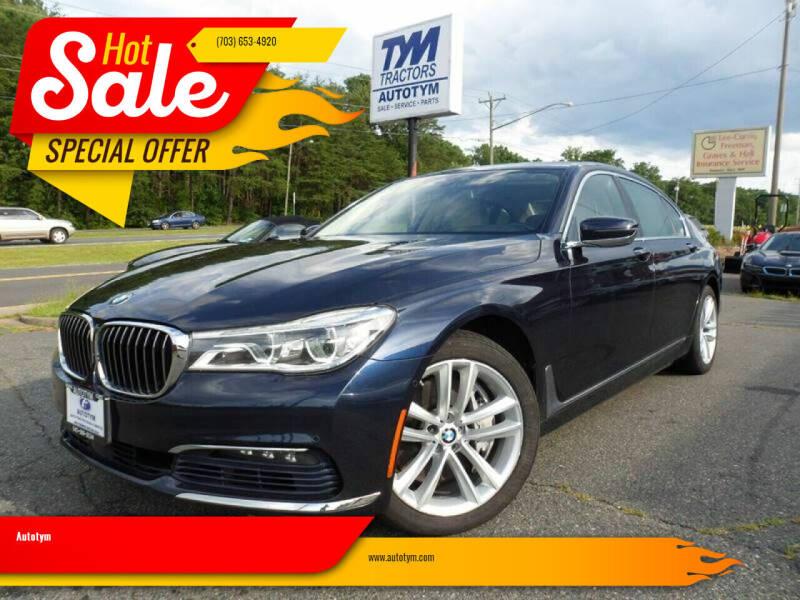 2016 BMW 7 Series for sale at AUTOTYM INC in Fredericksburg VA