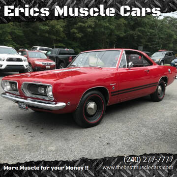 1968 Plymouth Barracuda for sale at Erics Muscle Cars in Clarksburg MD