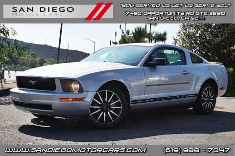 2007 Ford Mustang for sale at San Diego Motor Cars LLC in San Diego CA