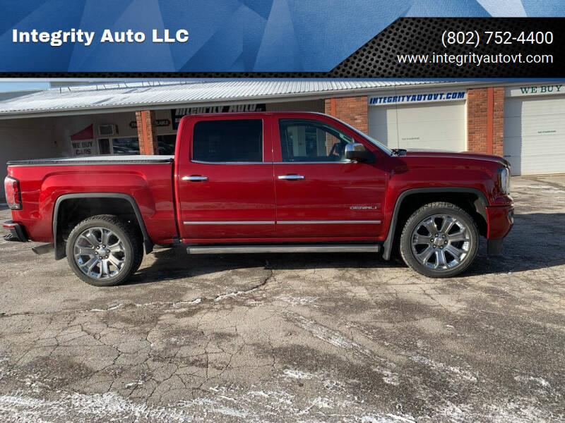2018 GMC Sierra 1500 for sale at Integrity Auto LLC - Integrity Auto 2.0 in St. Albans VT