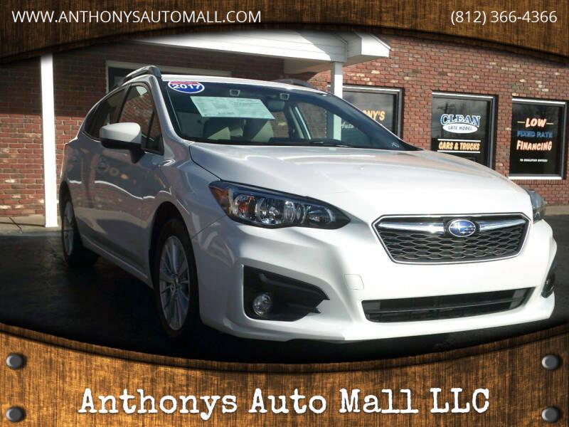 2017 Subaru Impreza for sale at Anthonys Auto Mall LLC in New Salisbury IN