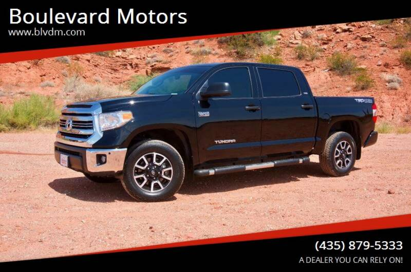 2017 Toyota Tundra for sale at Boulevard Motors in St George UT