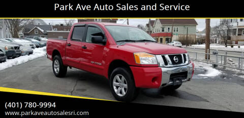 2012 Nissan Titan for sale at Park Ave Auto Sales and Service in Cranston RI