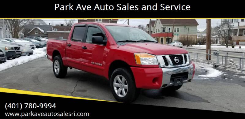 2012 Nissan Titan for sale at Park Ave Auto Sales and Service in Cranston RI