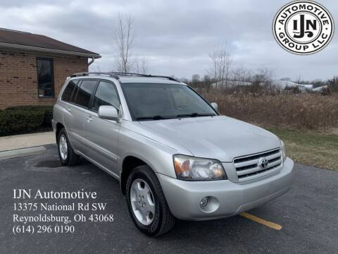 2006 Toyota Highlander for sale at IJN Automotive Group LLC in Reynoldsburg OH