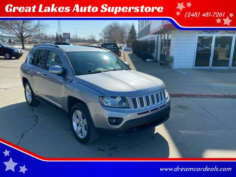 2017 Jeep Compass for sale at Great Lakes Auto Superstore in Waterford Township MI