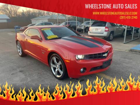 2010 Chevrolet Camaro for sale at Wheelstone Auto Sales in La Porte TX