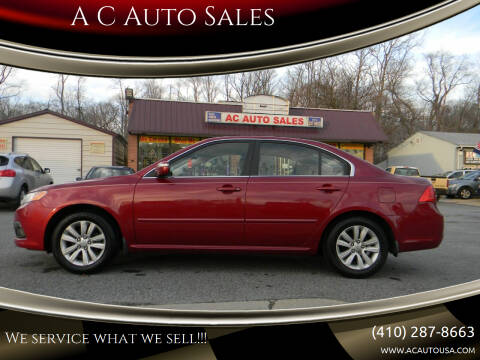 2010 Kia Optima for sale at A C Auto Sales in Elkton MD