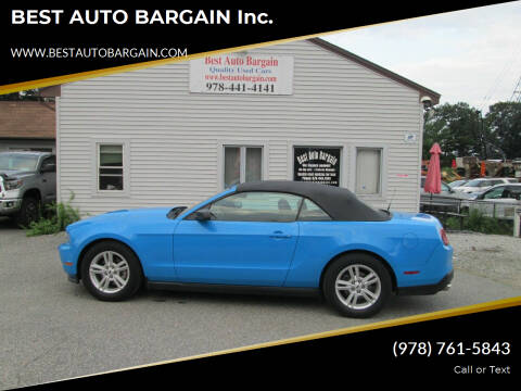 2012 Ford Mustang for sale at BEST AUTO BARGAIN inc. in Lowell MA