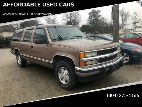 1994 Chevrolet Suburban for sale at AFFORDABLE USED CARS in Richmond VA