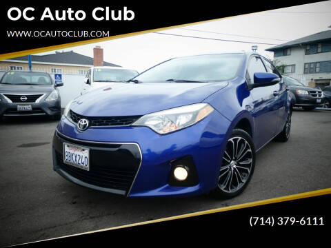 2015 Toyota Corolla for sale at OC Auto Club in Midway City CA