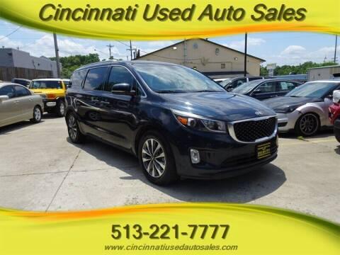 2015 Kia Sedona for sale at Cincinnati Used Auto Sales in Cincinnati OH