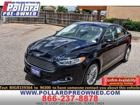 2016 Ford Fusion for sale at South Plains Autoplex by RANDY BUCHANAN in Lubbock TX