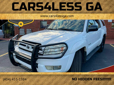 2003 Toyota 4Runner for sale at Cars4Less GA in Alpharetta GA