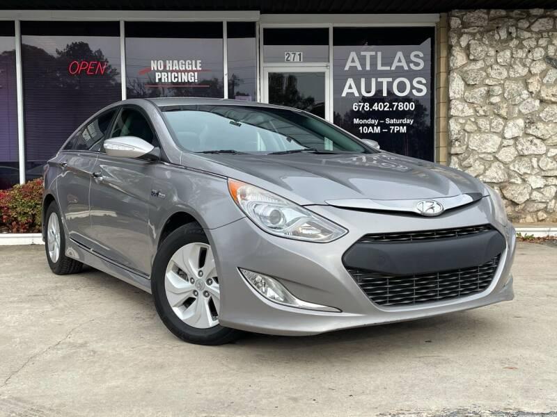 2013 Hyundai Sonata Hybrid for sale at ATLAS AUTOS in Marietta GA