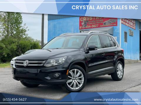 2013 Volkswagen Tiguan for sale at Crystal Auto Sales Inc in Nashville TN
