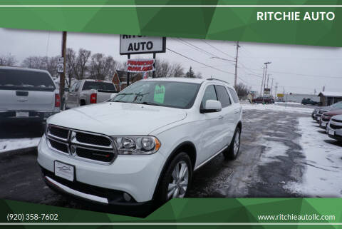 2013 Dodge Durango for sale at Ritchie Auto in Appleton WI