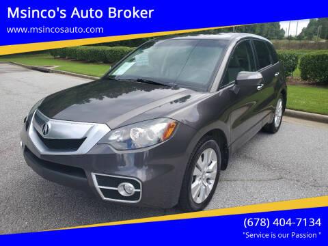 2010 Acura RDX for sale at Msinco's Auto Broker in Snellville GA