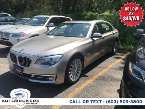2013 BMW 7 Series for sale at Auto Brokers Unlimited in Derry NH