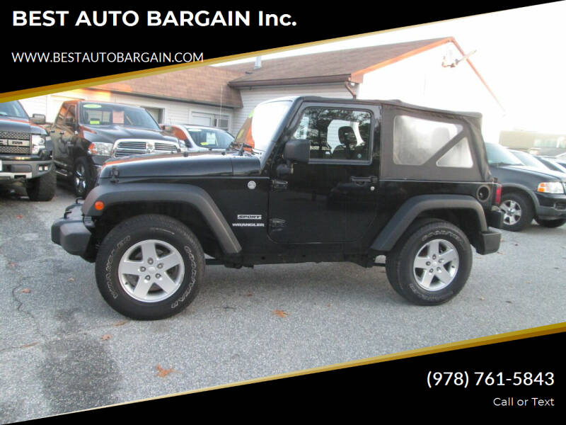 2011 Jeep Wrangler for sale at BEST AUTO BARGAIN inc. in Lowell MA