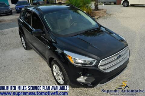2018 Ford Escape for sale at Supreme Automotive in Land O Lakes FL