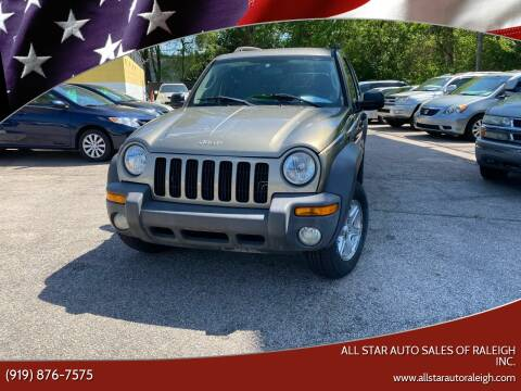 2003 Jeep Liberty for sale at All Star Auto Sales of Raleigh Inc. in Raleigh NC