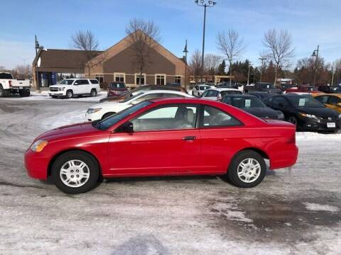 2001 Honda Civic for sale at ROSSTEN AUTO SALES in Grand Forks ND