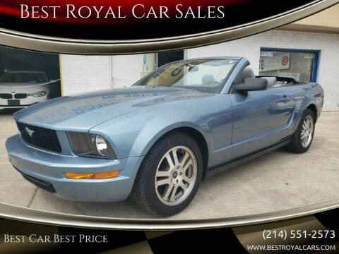 2007 Ford Mustang for sale at Best Royal Car Sales in Dallas TX