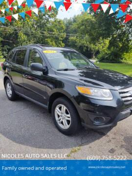 2012 Hyundai Santa Fe for sale at NICOLES AUTO SALES LLC in Cream Ridge NJ