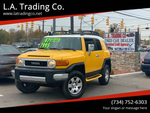 2007 Toyota FJ Cruiser for sale at L.A. Trading Co. in Woodhaven MI
