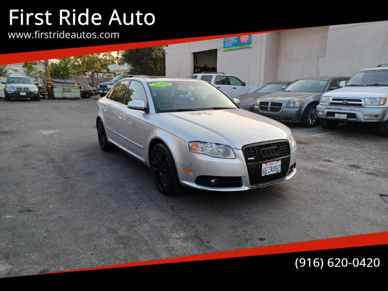 2008 Audi A4 for sale at First Ride Auto in Sacramento CA