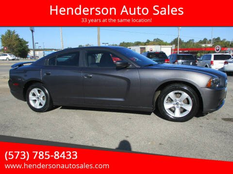 2014 Dodge Charger for sale at Henderson Auto Sales in Poplar Bluff MO