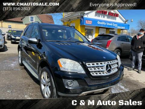 2010 Mercedes-Benz M-Class for sale at C & M Auto Sales in Detroit MI